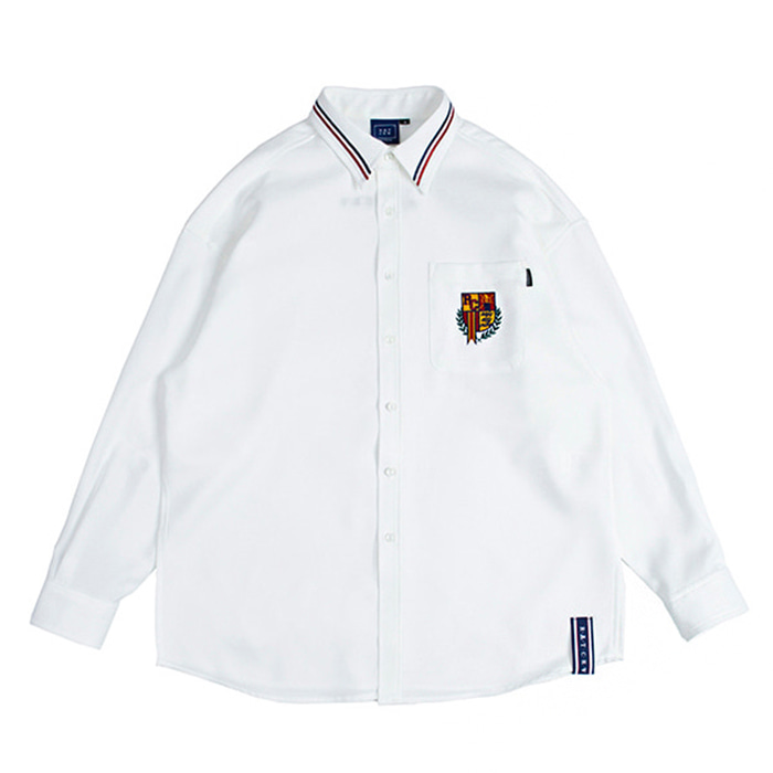 로맨틱크라운 셔츠 RMTCRW Collar Piping Shirt_White