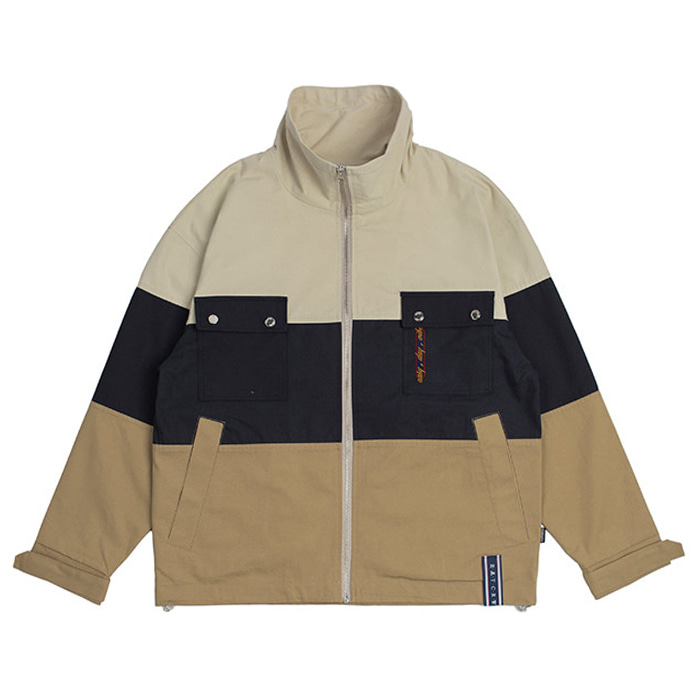 로맨틱크라운 자켓 Easy Day Vibe Combination Jacket_Beige