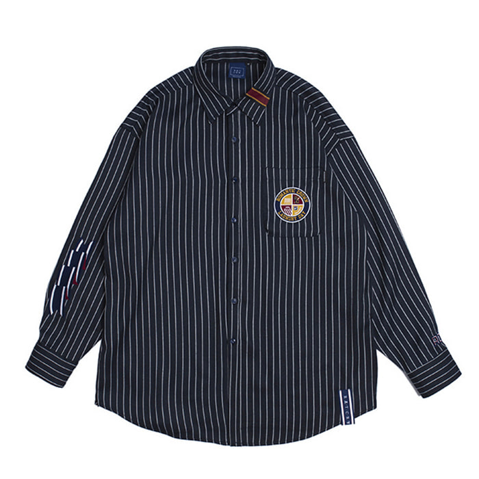 로맨틱크라운 셔츠 10th Ceremony Tape Shirts_Navy