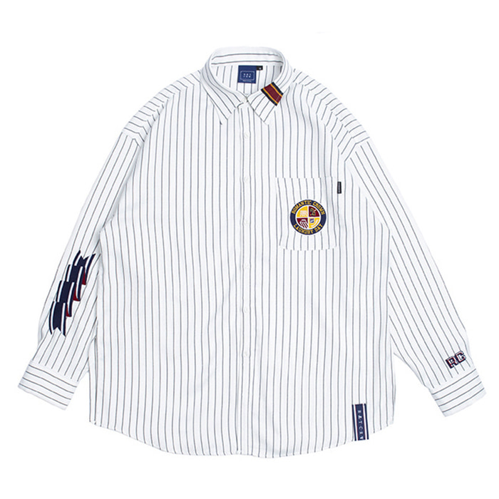 로맨틱크라운 셔츠 10th Ceremony Tape Shirts_White