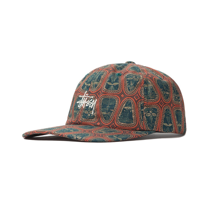 스투시 볼캡 MASK PATTERN LOW PRO CAP_Brown