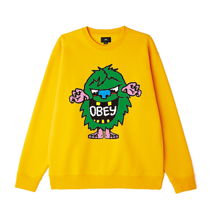 오베이 맨투맨 OBEY CREECH CREW / GOLD