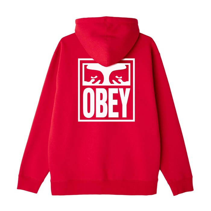 오베이 후드티 OBEY EYES ICON HOOD / RED