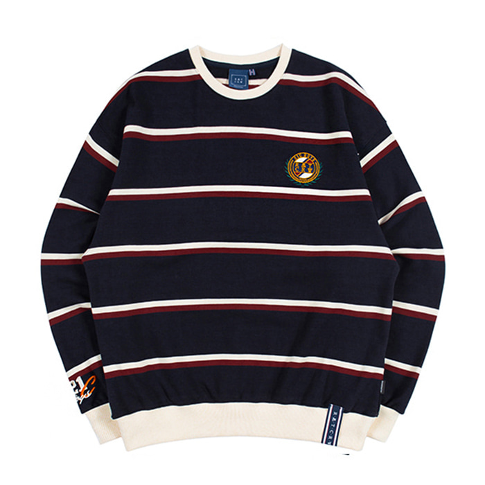 로맨틱크라운 21C BOYS STRIPED SWEATSHIRT/navy