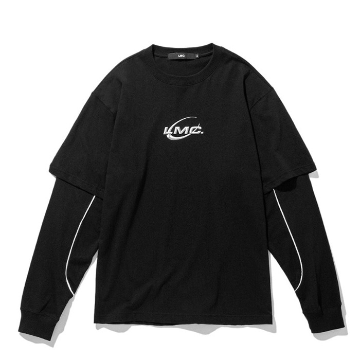 엘엠씨 롱슬리브 LMC PIPE LINE LAYERED LONG SLV TEE black