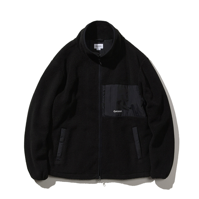 커버낫 MIXED BOA WARM UP JACKET BLACK(입고예정)