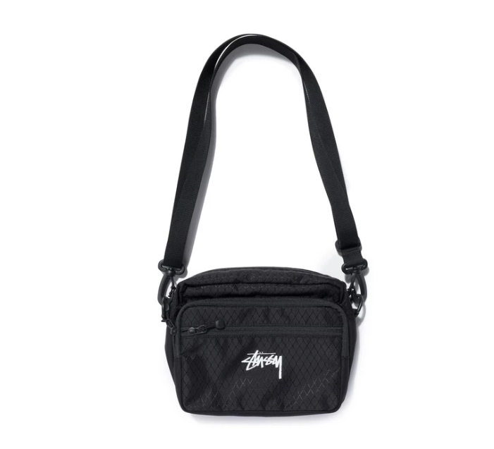 스투시 숄더백 DIAMOND RIPSTOP SHOULDER BAG/BLACK