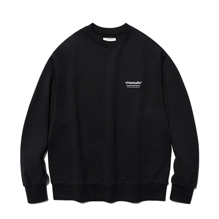 비바스튜디오 티셔츠 LOCATION LOGO CREWNECK IA [BLACK]