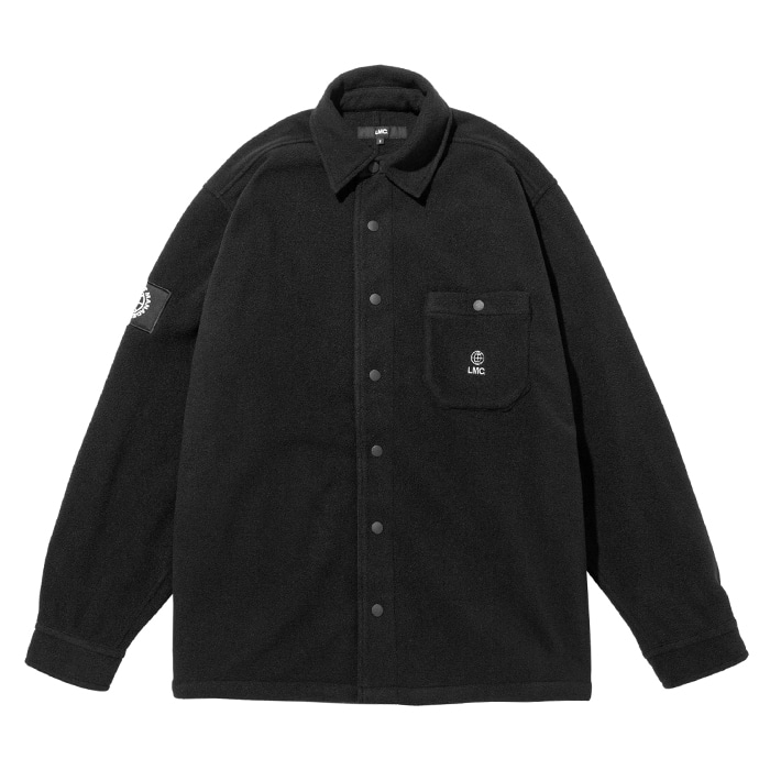 엘엠씨 LMC FLEECE SNAP SHIRT black