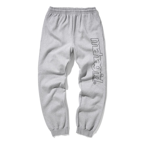 마하그리드 BIG LOGO SWEATPANTS/GREY