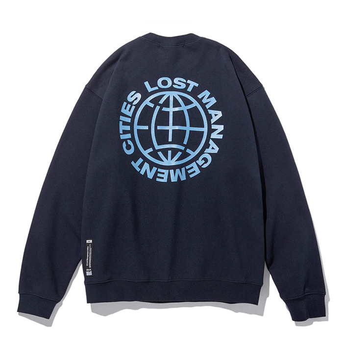 엘엠씨 맨투맨 LMC OG WHEEL SWEATSHIRT navy