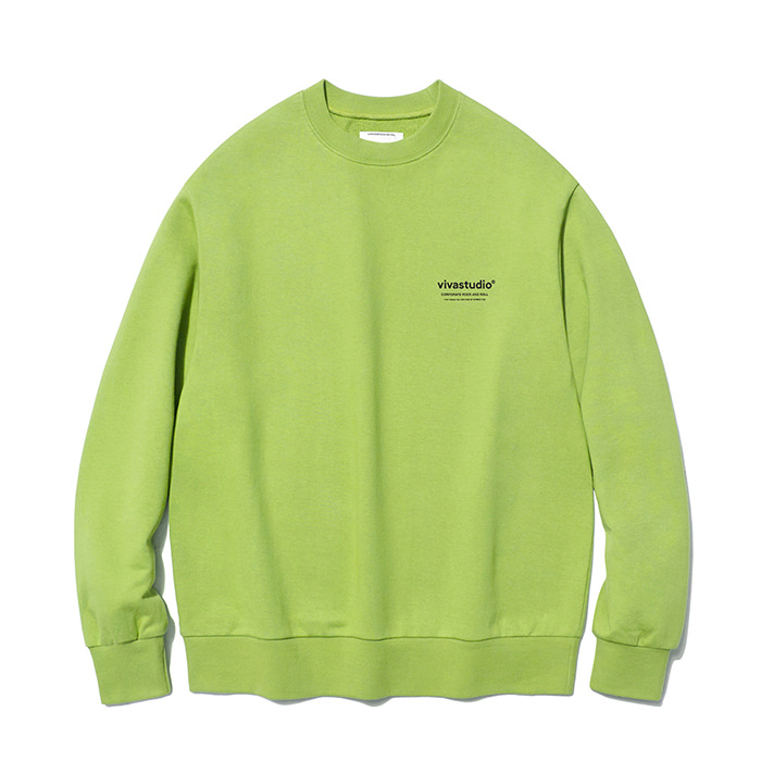 비바스튜디오 맨투맨 LOCATION LOGO CREWNECK IA [NEON YELLOW]