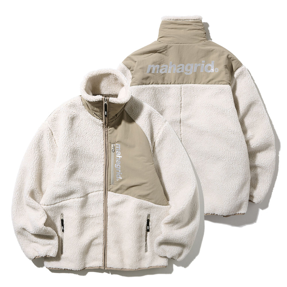 마하그리드 자켓 HEAVY FLEECE JACKET IVORY(MG1JWMB940A)