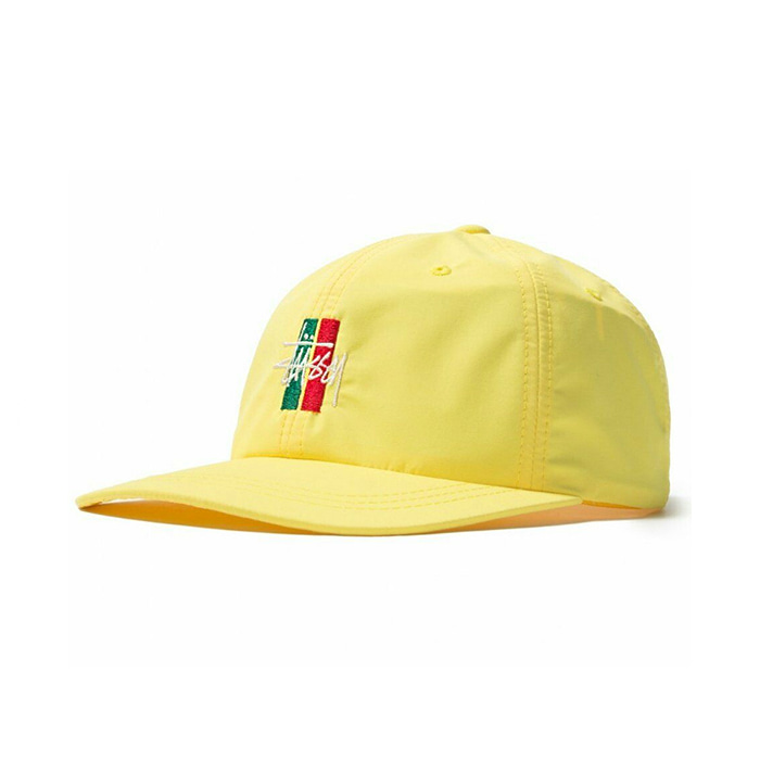 스투시 볼캡 BARS LOGO LOW PRO CAP/YELLOW