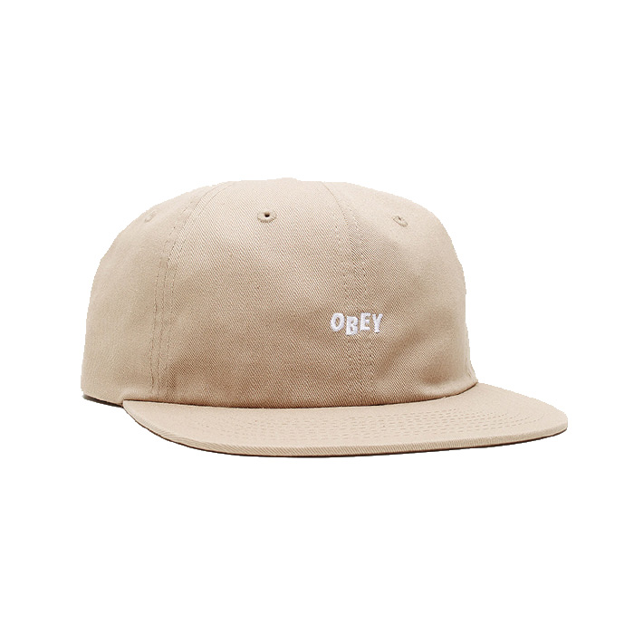 오베이 모자 JUMBLED 6 PANEL STRAPBACK/KHAKI