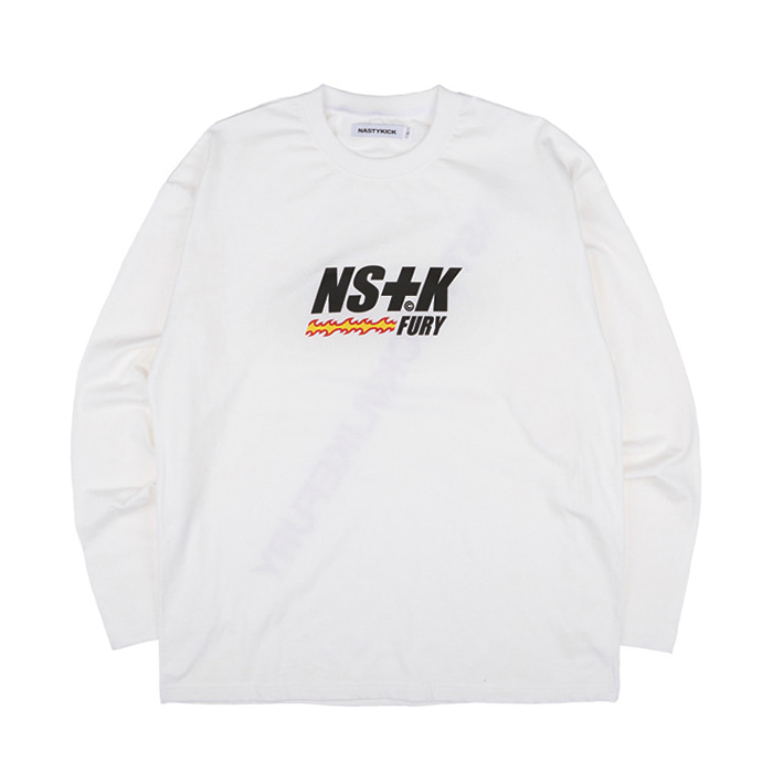네스티킥 롱슬리브 LIKE FURY V2 LONGSLEEVE TEE/WHITE