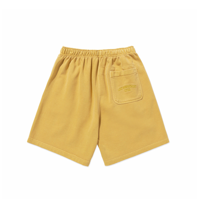 엘엠씨 반바지 LMC OVERDYED ARCH FN SWEAT SHORTS yellow