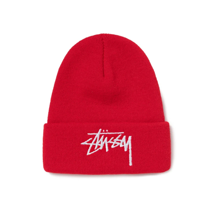 스투시 비니 Big Stock Cuff Beanie/RED