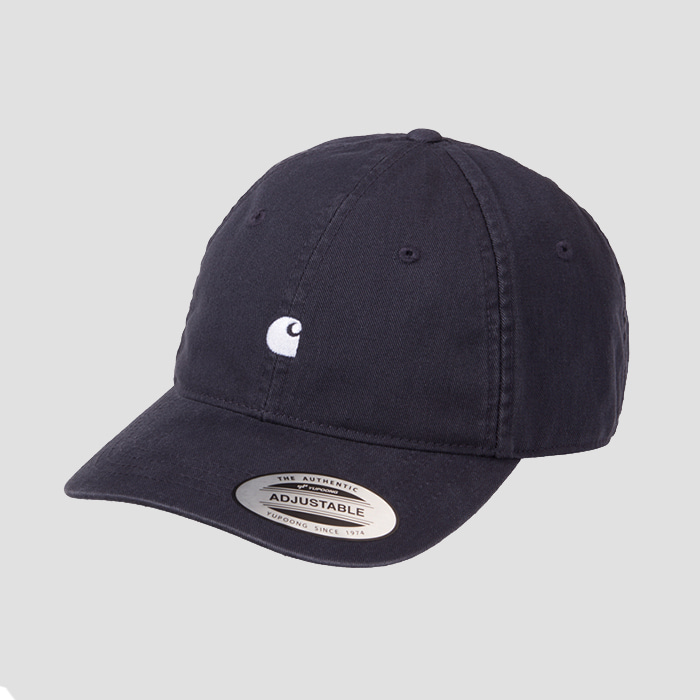 칼하트wip MADISON LOGO CAP Dark Navy / Wax
