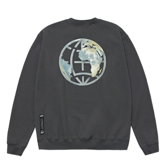 엘엠씨 맨투맨 LMC EARTH LOGO SWEATSHIRT charcoal