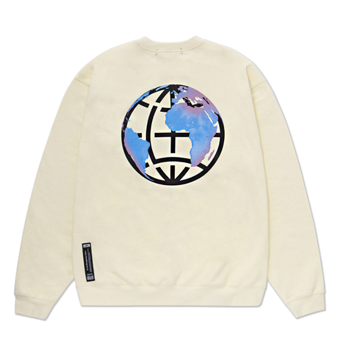 엘엠씨 맨투맨 LMC EARTH LOGO SWEATSHIRT cream