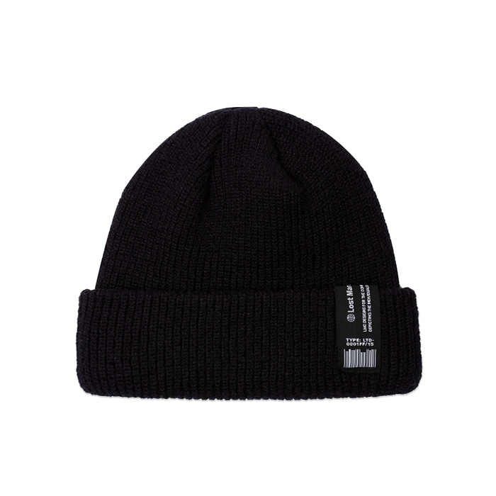 엘엠씨 비니 LMC LABEL SHORT BEANIE black
