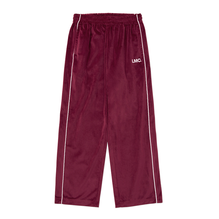 엘엠씨 LMC VELOUR TRACK PANTS burgundy