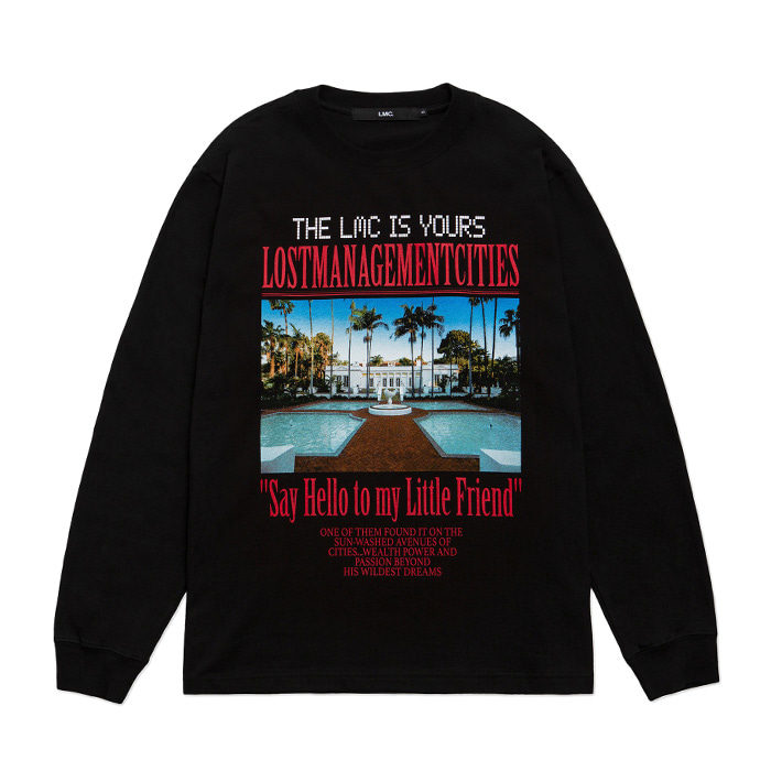 엘엠씨 롱슬리브 LMC MANSION LONG SLV TEE black