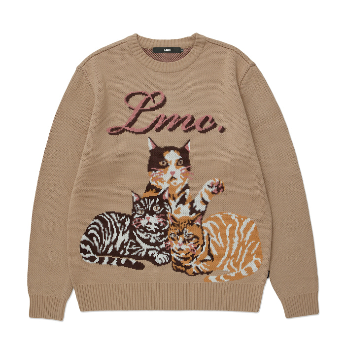 엘엠씨 LMC CATS KNIT SWEATER beige