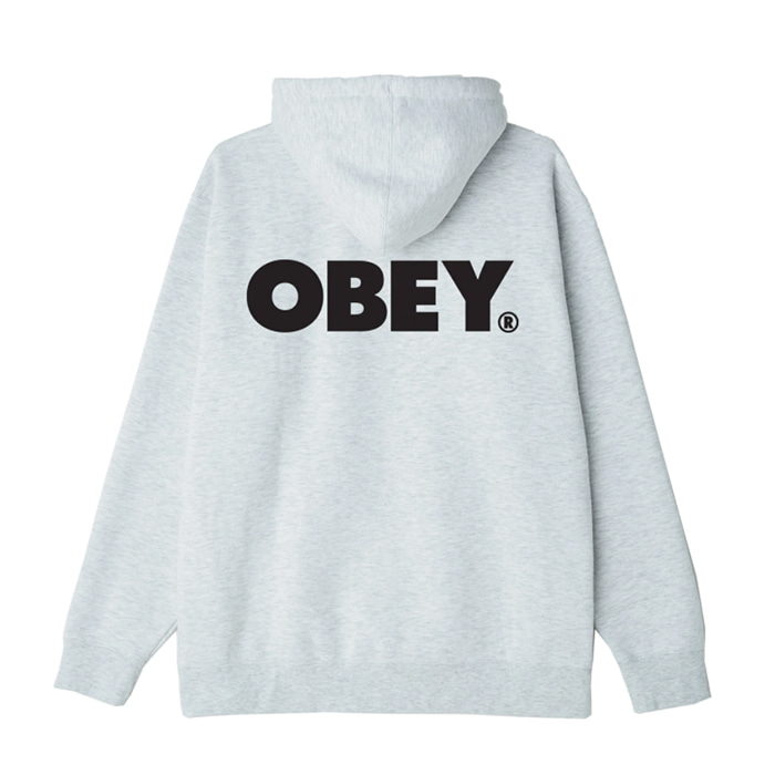 오베이 후드티 BOLD BOX FIT PULLOVER HOOD / ASH GREY