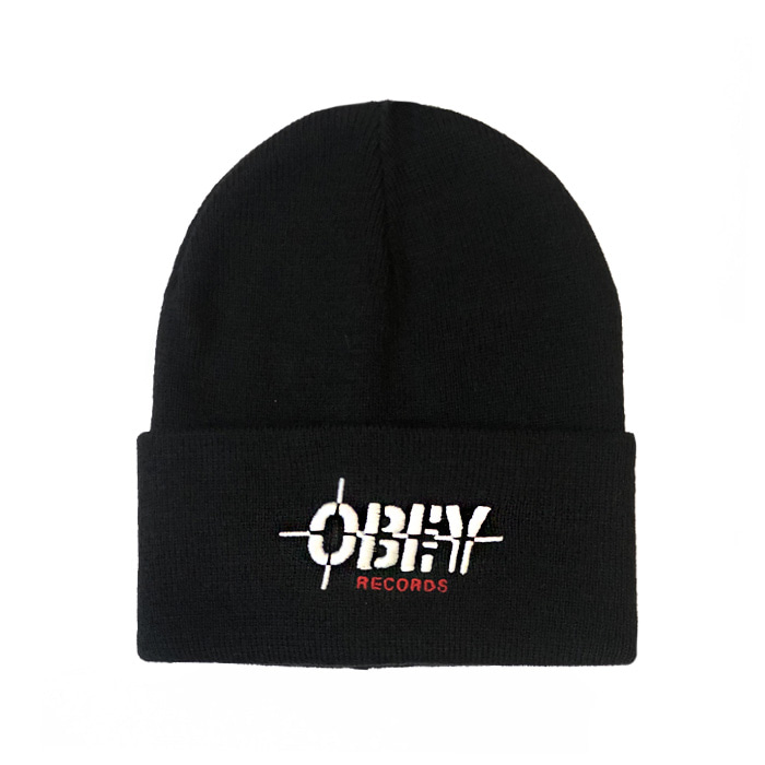 오베이 비니 RECORDS BEANIE/BLACK