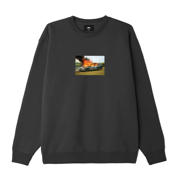 오베이 맨투맨 THE SUBURBS PREMIUM CREWNECK / BLACK