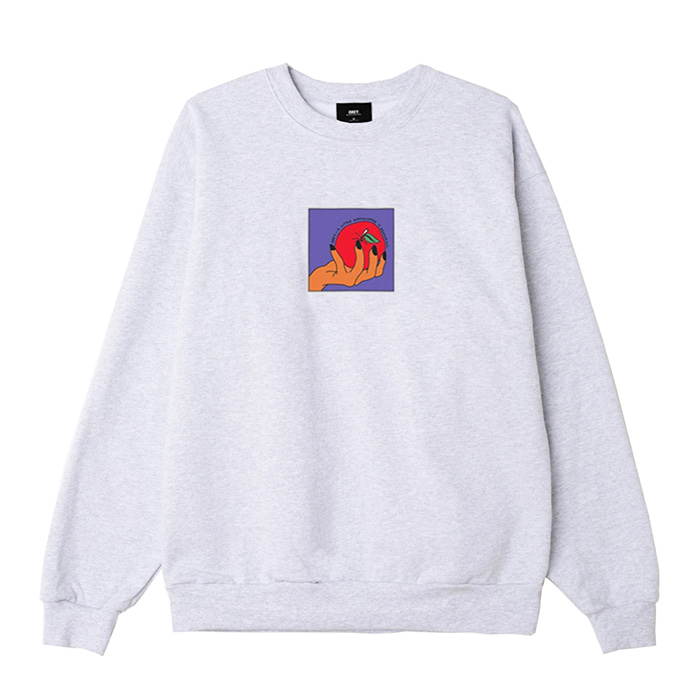 오베이 맨투맨 APPLE A DAY PREMIUM CREWNECK / ASH GREY