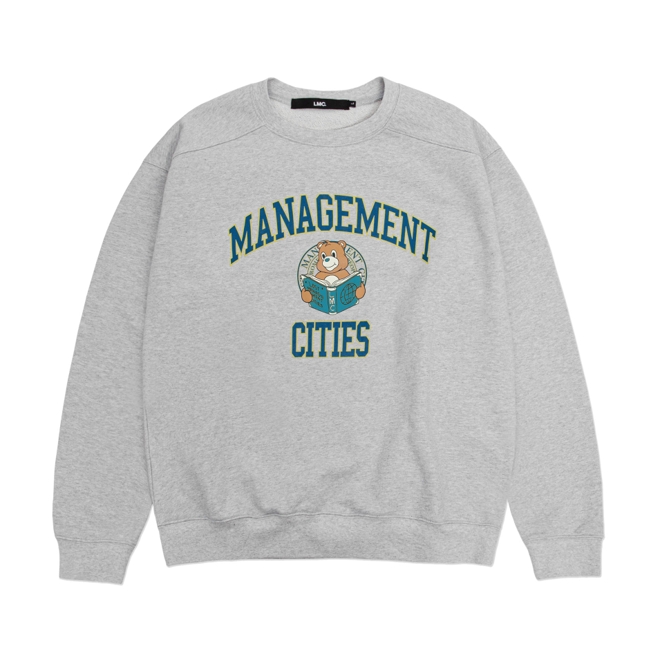 엘엠씨 맨투맨 LMC UNIV BEAR SWEATSHIRT heather gray