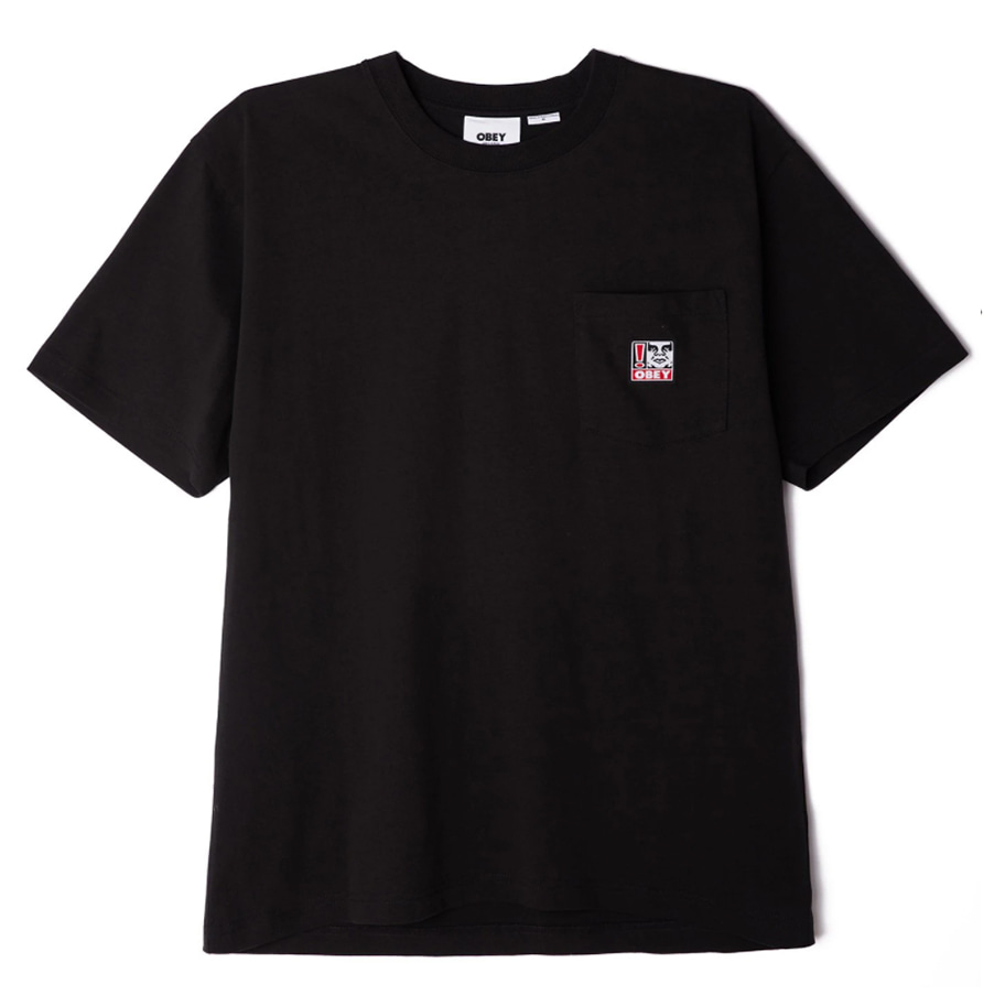 오베이 티셔츠 POINT ORGANIC POCKET TEE SS black