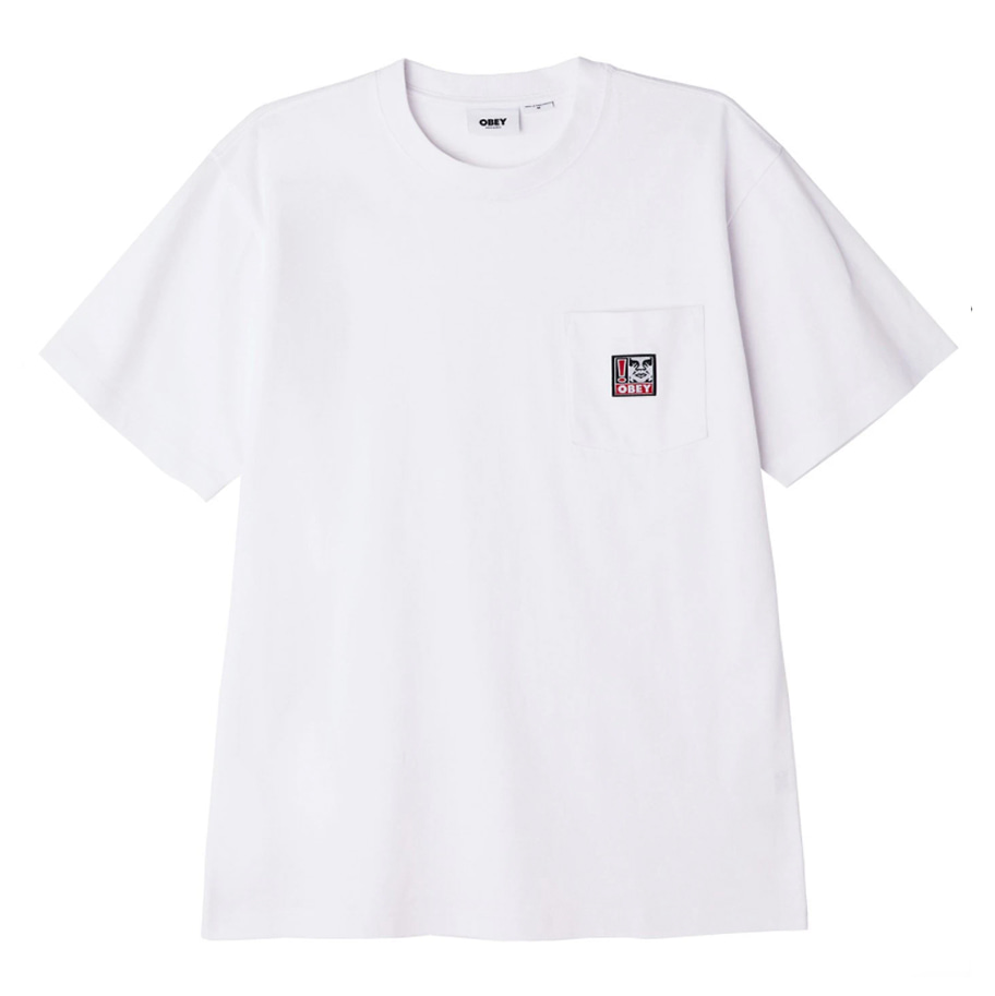 오베이 티셔츠 POINT ORGANIC POCKET TEE SS white