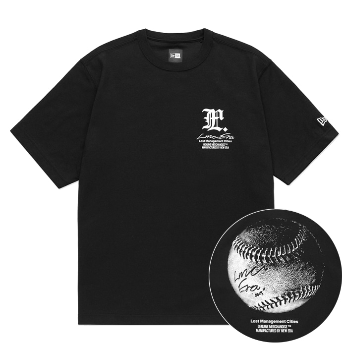 엘엠씨 티셔츠 LMC X NEW ERA SIGNED BALL TEE black